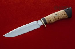 Lapwing knife (95X18, birch bark, black hornbeam)