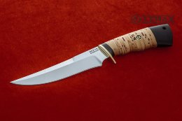 Universal knife-1 (95X18, birch bark, black hornbeam)