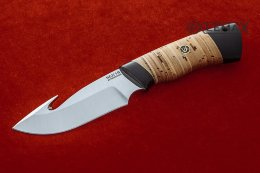 Skinner knife (95X18, birch bark, black hornbeam)