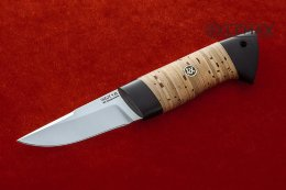 Small Zasapozhny knife (95X18, birch bark, black hornbeam)