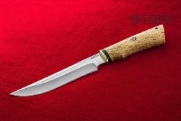 Knife Taiga (X12MF, Karelian birch)