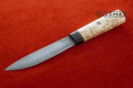 Yakut knife (Damascus, Karelian birch)