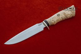 Lapwing knife (X12MF, Karelian birch)