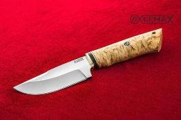 Skinning knife (X12MF, Karelian birch)