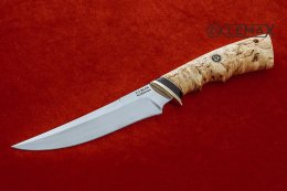 Knife Universal-1 (X12MF, Karelian birch)