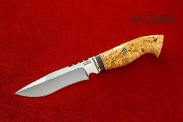 Knife Siberia (X12MF, Karelian birch)