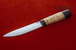 Yakut knife (95X18, birch bark, black hornbeam)