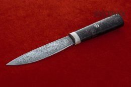 Yakut knife (Bulat, deep etching, horn, stabilized Karelian birch)
