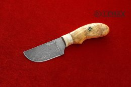Small Skinning knife (Bulat, horn, Karelian birch)