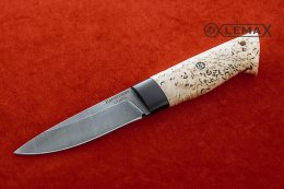 Zasapozhny knife (Damascus, Karelian birch)