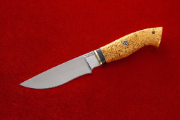 Knife Tundra (X12MF, Karelian birch)