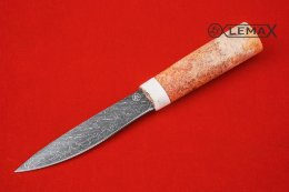 Yakut knife (laminate, elk horn, stabilized maple root)