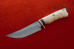 Knife East (Damascus, Karelian birch)