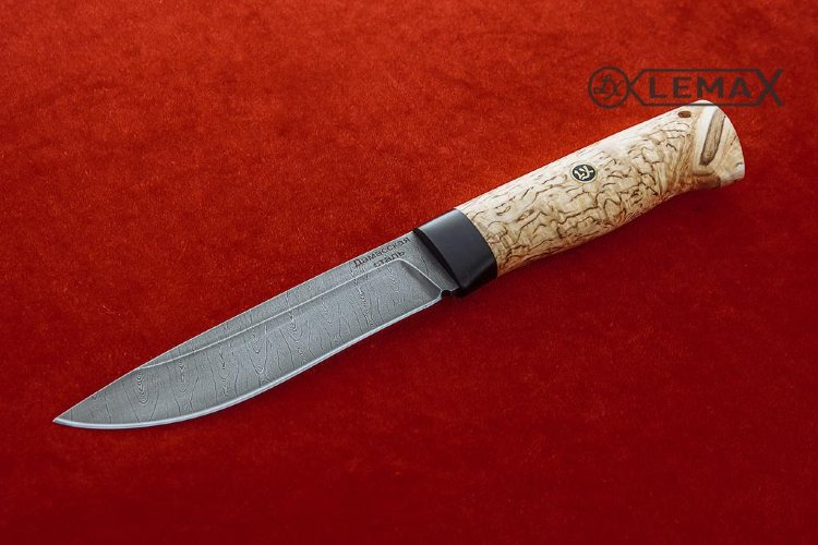 Knife Ural (Damascus, Karelian birch)