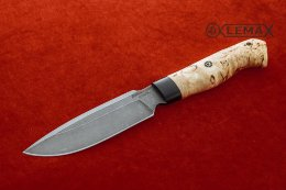Knife Predator (Damascus, Karelian birch)