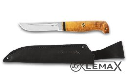 Rybak knife (ATS-34, stabilized Karelian birch)