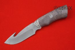 Skinner knife (Bulat, Nickel silver, stabilized Karelian birch)