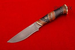 Knife Tundra (Bulat, stabilized Karelian birch)