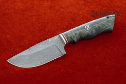 Skinning knife (Bulat, stabilized Karelian birch)