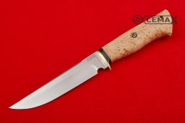 Squirrel knife (x12mf, Karelian birch, pritin brass)
