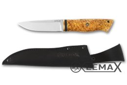Zasapozhny knife (ATS-34, stabilized Karelian birch)