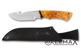 Skinner knife (ATS-34, stabilized Karelian birch)