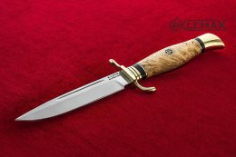 Chekist's knife (X12MF, Karelian birch)