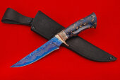 Knife Universal-1 (blue laminate, Nickel silver, handle - composite starry sky)