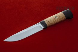 Ural knife (95X18, birch bark, black hornbeam)